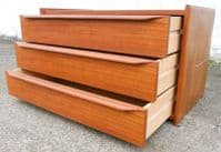 1960's Teak Low Chest of Drawers